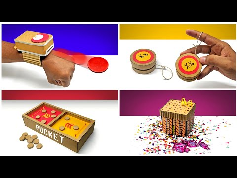 TOP 4 Interesting Diy Cardboard Projects For Children !!!