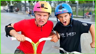 8 YEAR OLD PRO SCOOTER KID DESTROYED ME! *GAME OF SCOOT*