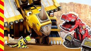 Динозавры мультики. Роботы динозавры мультфильм. Dino trucks Динотракс  Трактор Грузовик Машинки