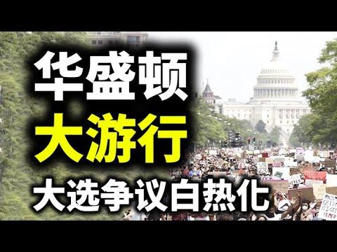 华盛顿大游行,美国人民力挺川普。陈破空与网友在线互动