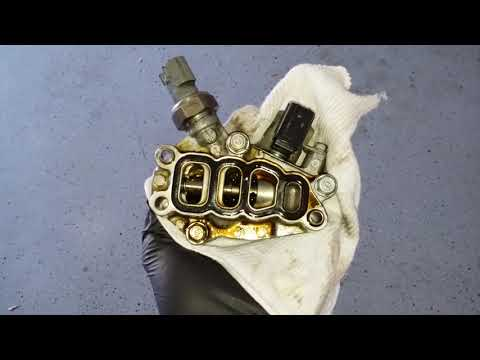 HONDA ODYSSEY 2007 VTEC SPOOL VALVE ASSEMBLY / ENGINE TIMING VARIABLE SOLENOID GASKET REPLACEMENT