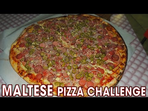 MASSIVE MALTESE PIZZA CHALLENGE!!