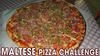 MASSIVE MALTESE PIZZA CHALLENGE!!