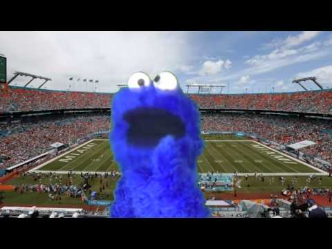 Cookie Monster Singing The Miami Dolphins Fight Song