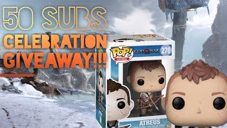 We celebrate 50 SUBS with an awesome God Of War FUNKO POP GIVEAWAY!!!!