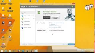 Descargar e Instalar ESET NOD32 Antivirus 8 con licencia de por vida