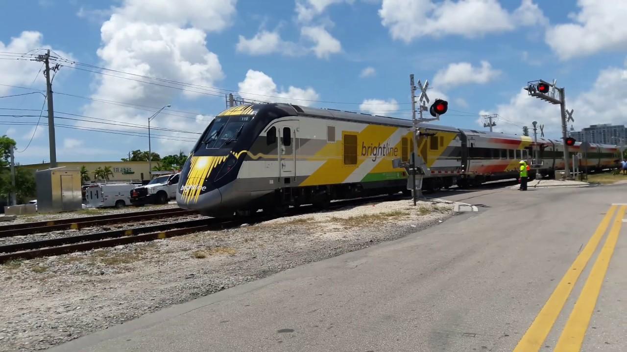 Southboud Brightline Virgin Trains USA - North Miami Florida