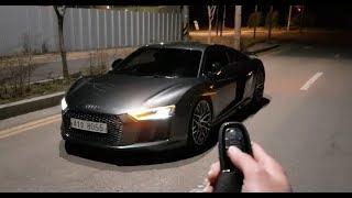 !!NEW AUDI R8 2018 night drive 0-200KM TEST!!