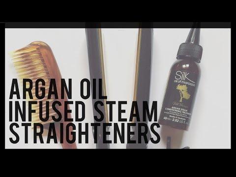 ARGAN OIL INFUSED STEAM STRAIGHTENER REVIEW