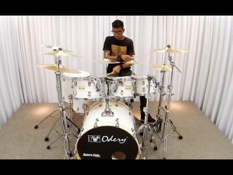 Bateria Odery Fluence Jam Session White Ash Sound Check Drum Set