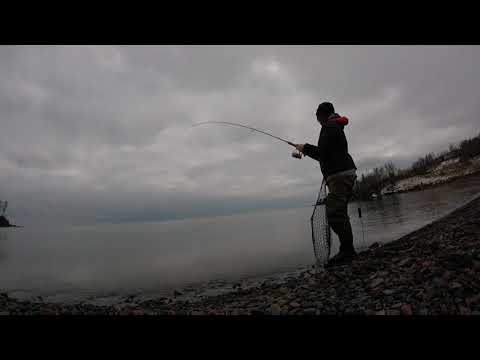 Shore Fishing On MN's North Shore Of Lake Superior