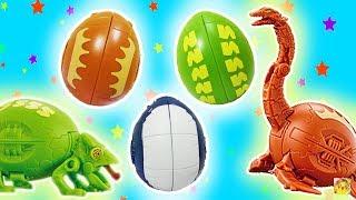 DINOSSAURO EGG STARS E ANIMAIS! Camaleão, Pescoçudo e mais! Gashapon Brinquedos (ガシャポン タマゴラス 3)