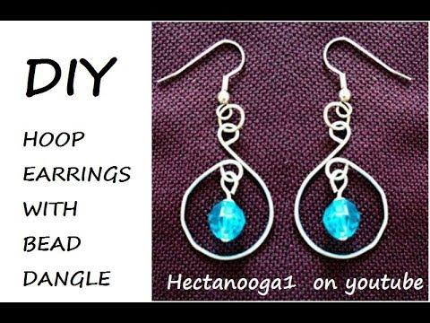 Diy Wire Hoop Earrings With Bead Dangles Jewelry Making