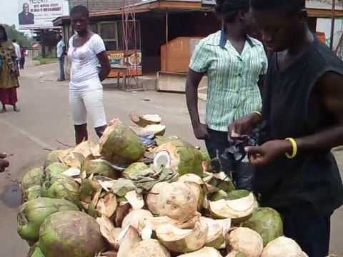 Ghana Kumasi market.