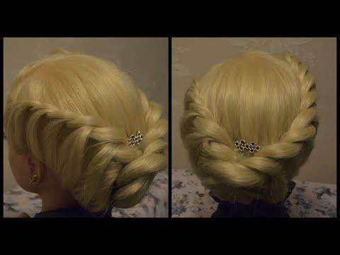 Зачіска з джгутів на кожен день! Красиво і легко!