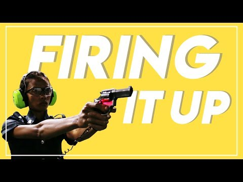 Firing it up at Certis Cisco's upgraded shooting range
