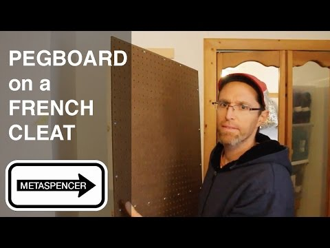 Pegboard on French Cleat