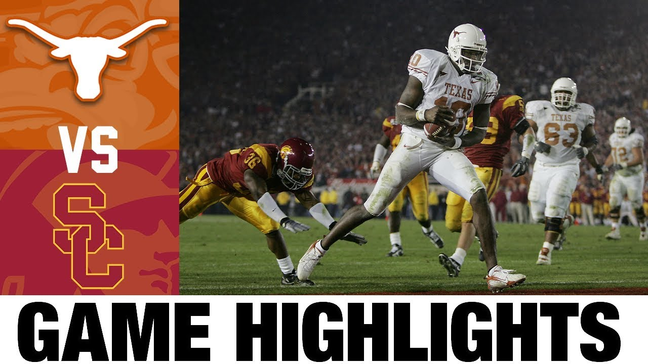 #1 USC vs #2 Texas | 2006 Rose Bowl Highlights | 2000's Games of the Decade