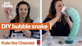 Chemistry for kids: Make a DIY bubble snake! | Kate the Chemist | Big Think