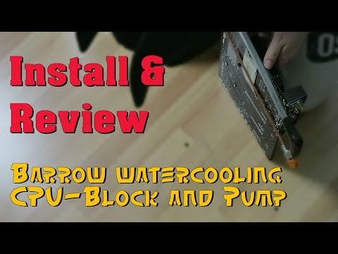 Barrows water cooling gear review and installation tips! - YouTube