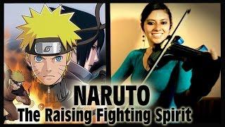 NARUTO #1❤ en VIOLIN ELECTRICO!! (The Raising Fighting Spirit)