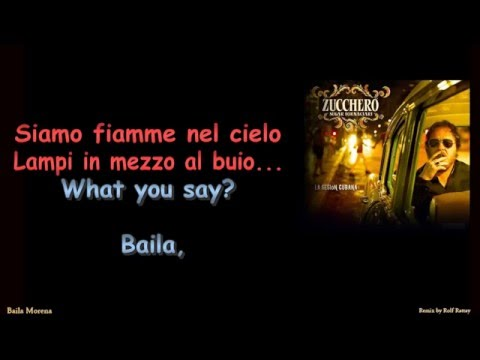 Zucchero   Baila Morena Instrumental with Lyrics Remix by Rolf Rattay