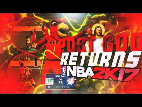 THE POST GOD RETURNS TO NBA 2K17 | I CANT BE GUARDED IN THE PAINT! BEST POST SCORER BUILD