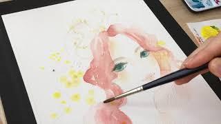 透明水彩メイキング「宝石の姫君(前半)」− 2019.7  || Watercolor painting