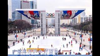 オリンピック公園平和の広場に「オリンピックスケート場」がオープン=韓国 (12/29)
