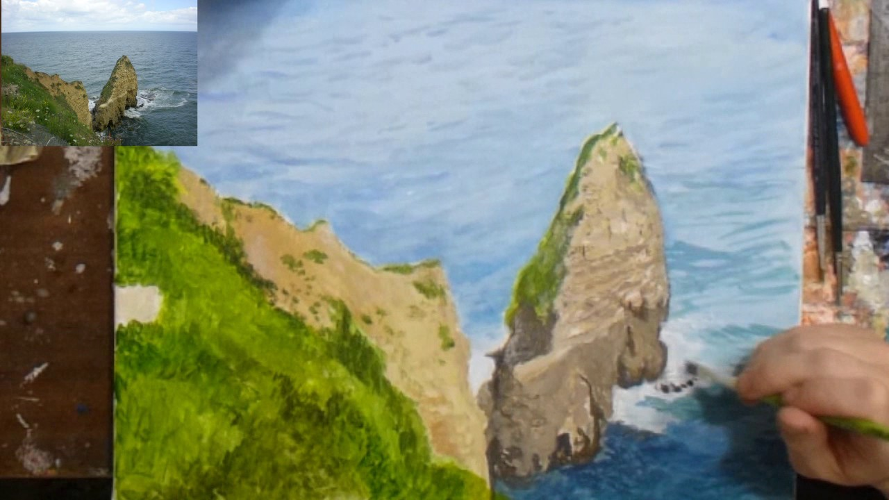 Comment faire un paysage en peinture - YouTube