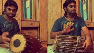 Thavil Patterns on Mridangam and Dovilangam | Sarvesh Karthick | Sri.Yazhpanam Thedchanamoorthy
