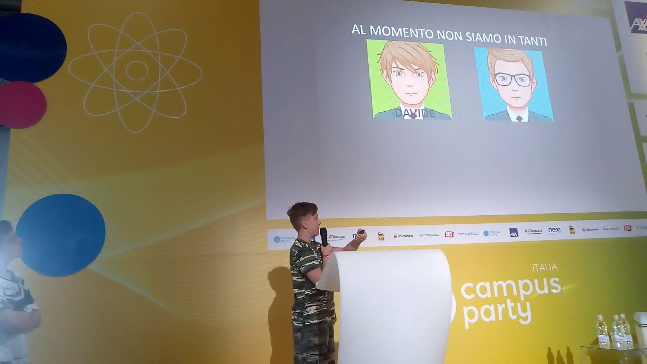 L'intervento di Davide al CampusParty