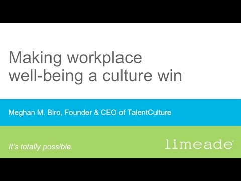Making workplace well-being a culture win