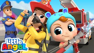 Download Policeman vs Fireman | Jobs Song by Little Angel Kids Songs and Nursery Rhymes Mp3 and Videos