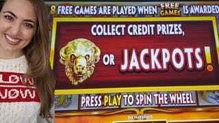 CAUGHT $22/BET BONUS on BUFFALO GOLD REVOLUTION in Vegas!