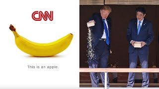 CNN Makes Up Fake Story About Trump Dumping Food Into A Koi Pond Haphazardly in Japan #KoiGate