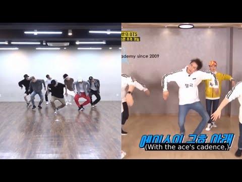 RUNNING MAN DANCING TO BTS SONGS (Idol, Fire)