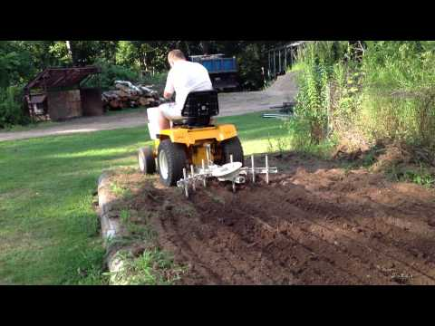 Cub Cadet 1450 In Garden With Cultivator