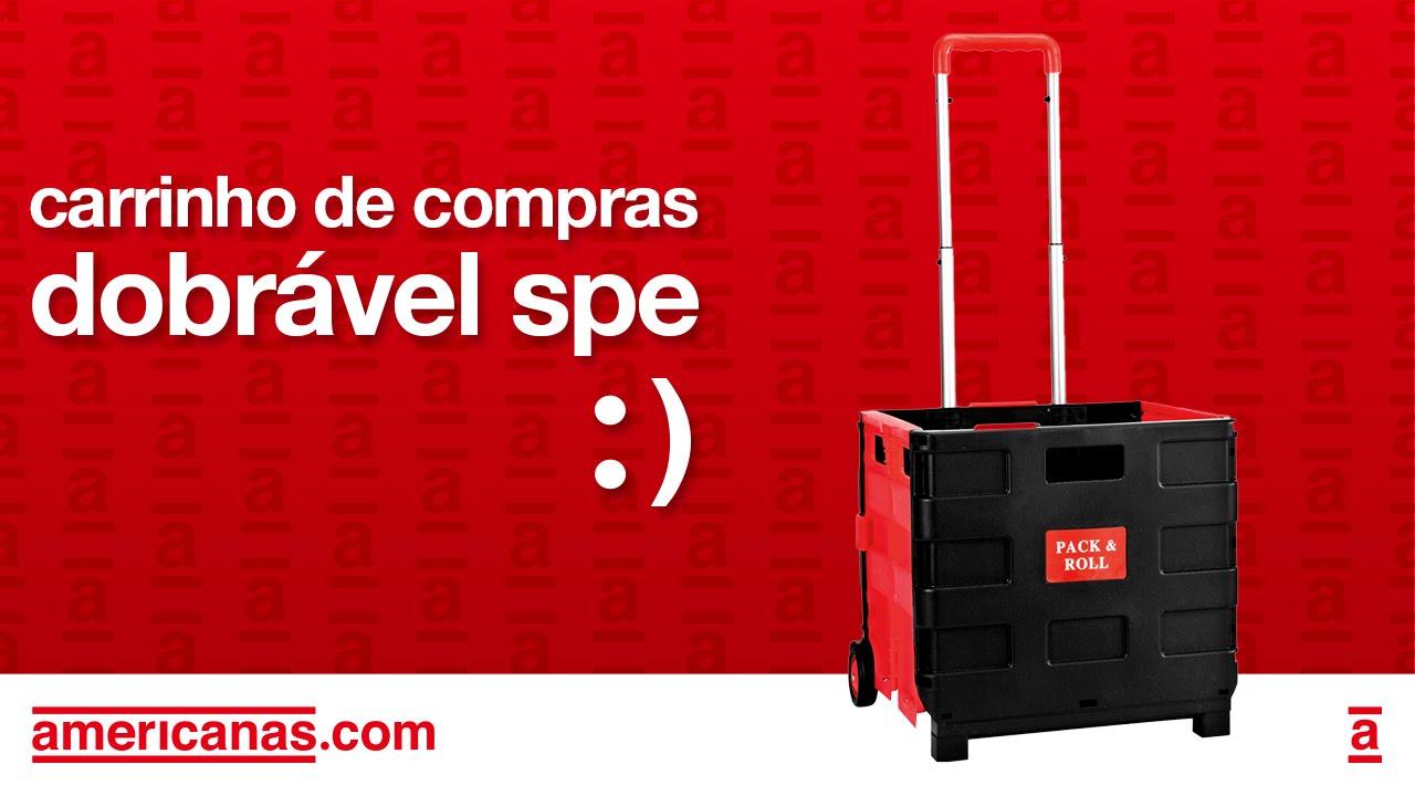 fa085babacf2 Carrinho de Compras Dobrável SPE em PVC - Americanas.com - YouTube