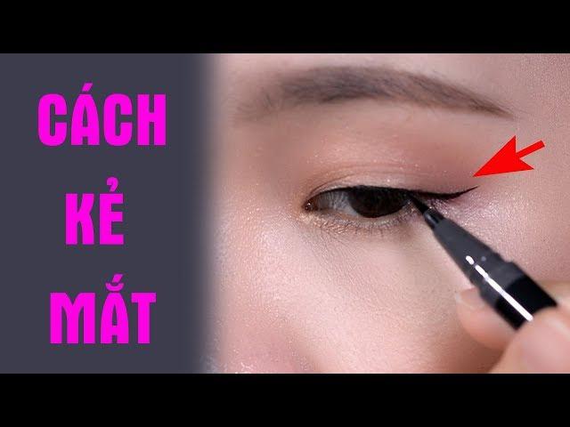 Cách kẻ mắt đẹp tự nhiên cho người mới học trang điểm - Rất dễ áp dụng | Tiny Loly