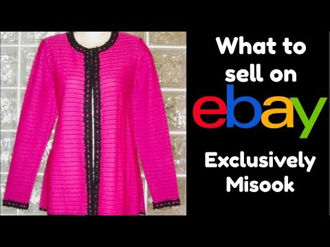 Thrift Store Clothing To Sell On Ebay Exclusively Misook Brand Youtube