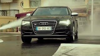 Audi S8 vs Police,Monaco,Transporter 4