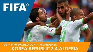 KOREA REPUBLIC v ALGERIA (2:4) - 2014 FIFA World Cup™
