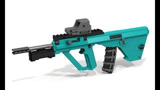 Custom Lego Gun MOC: AUG [Master Edition]