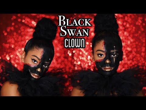 Black Swan Meets Clown: Halloween Makeup | jasmeannnn