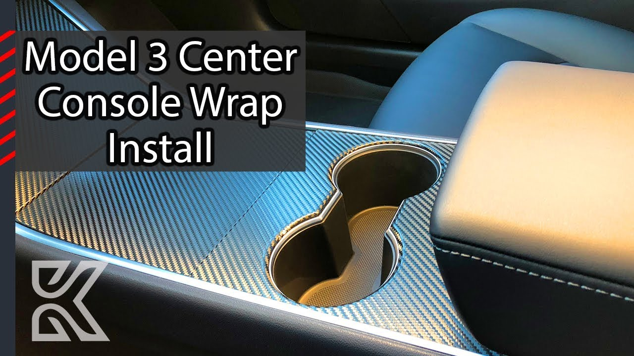 Tesla Model 3 Center Console Wrap Install