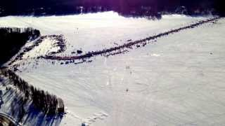 Willow Iditarod restart flyby