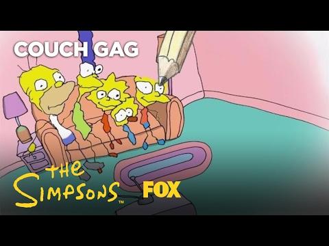 Bill Plympton's Couch Gag | Season 28 Ep. 16 | THE SIMPSONS