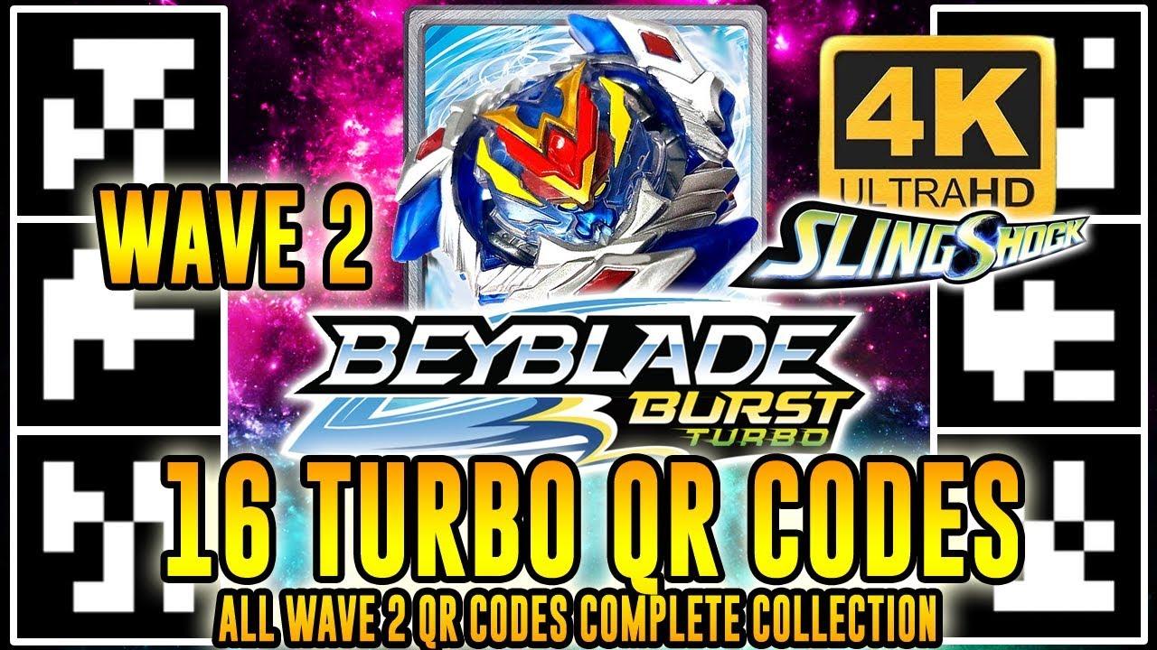 All New 16 Turbo Qr Codes Beyblade Burst Turbo App Wave 2 Em 4k