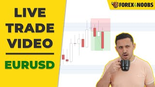 EURUSD Live Daily Chart Trade (With One Little Mistake)